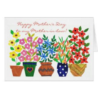 Cartão do dia das mães de flower power para uma