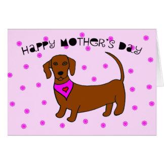 Cartão do dia das mães do cão -- Daschund