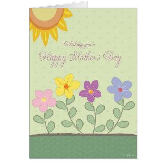 Cartão do dia das mães do design floral