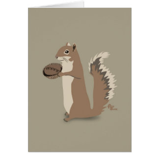 Cartão do dia das mães do esquilo