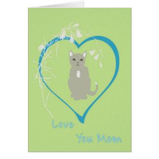 Cartão do dia das mães do gato