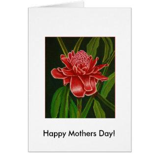 Cartão do dia das mães do gengibre da tocha