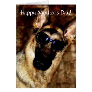 Cartão do dia das mães do german shepherd do
