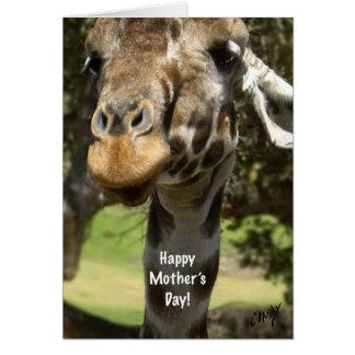 cartão do dia das mães do girafa