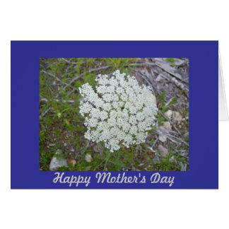 Cartão do dia das mães do laço da rainha Anne