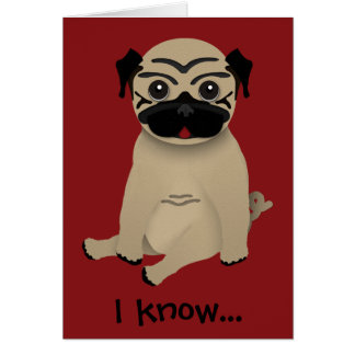 Cartão do dia das mães do Pug