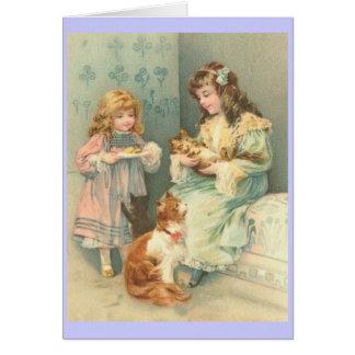 Cartão do dia das mães do Victorian
