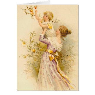 Cartão do dia das mães do vintage