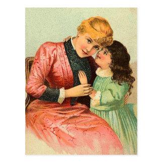 Cartão do dia das mães do vintage cartão postal
