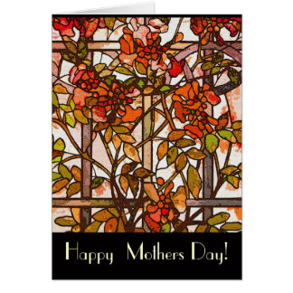 Cartão do dia das mães do vitral de Tiffany