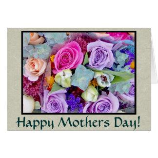Cartão do dia das mães dos Rosebuds