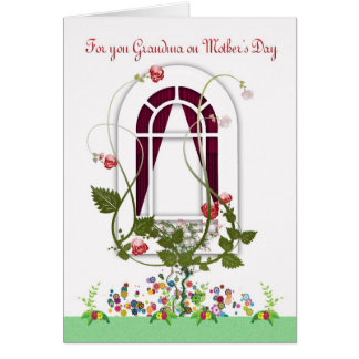 Cartão do dia das mães - flores da avó