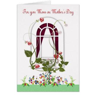 Cartão do dia das mães - flores da mamã
