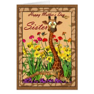 Cartão do dia das mães, irmã