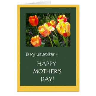 Cartão do dia das mães para a madrinha - 'tulipas