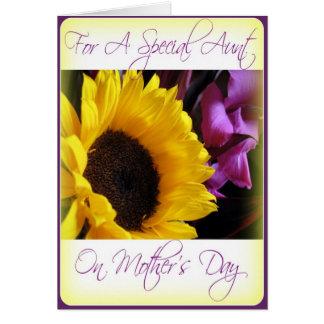 Cartão do dia das mães para a tia