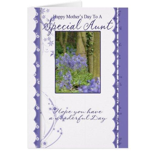 Cartão do dia das mães, tia especial