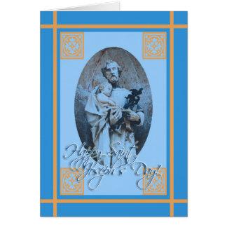 Cartão do dia de banquete de St Joseph feliz