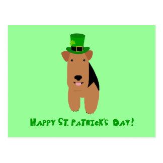 Cartão do dia de galês Terrier St Patrick