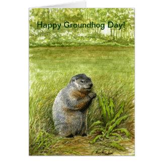 Cartão do dia de Groundhog