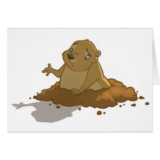 Cartão do dia de Groundhog (vazio)
