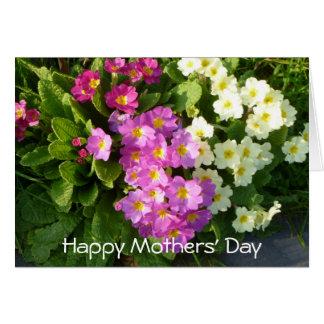 Cartão do dia de mães com as flores coloridas do