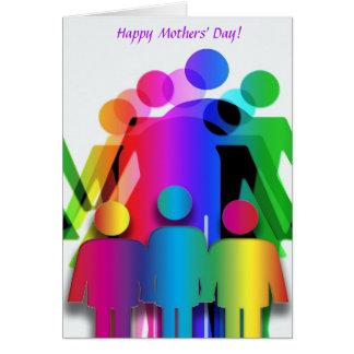 Cartão do dia de mães para famílias com duas mães