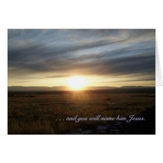 Cartão do dia de Natal do por do sol - 1:31,32 de