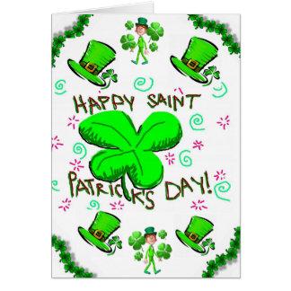 Cartão do dia de Patrick de santo