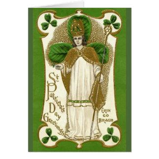 Cartão do dia de Patrick de santo do vintage