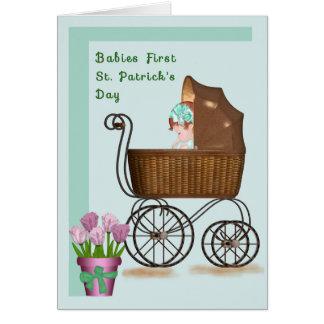 Cartão do dia de primeiro St Patrick dos bebês