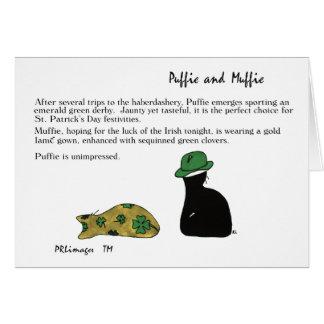Cartão do dia de Puffie e de Muffie St Patrick