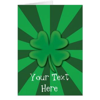 Cartão do dia de quatro St Patrick do trevo da