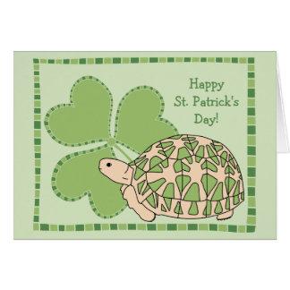 Cartão do Dia de São Patrício da tartaruga da