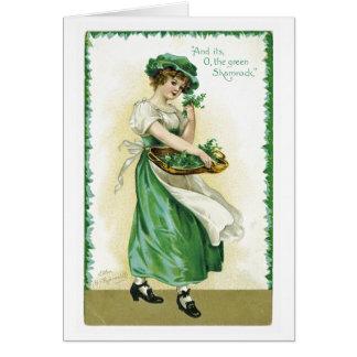Cartão do Dia de São Patrício do vintage
