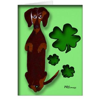 Cartão do dia de Sidney St Patrick do Dachshund
