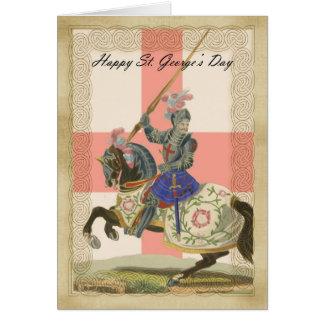 Cartão do dia de St George, carda de St George