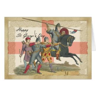 Cartão do dia de St George, St George, cavaleiro
