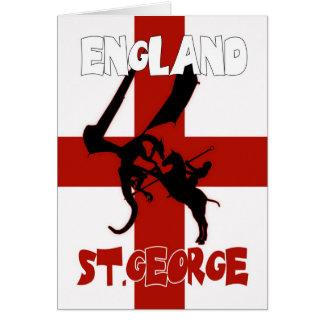 Cartão do dia de St George - St George e dragão
