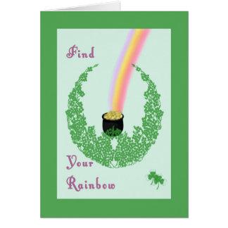 Cartão do dia de St Patrick com o pote do design