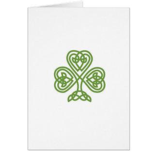 Cartão do dia de St Patrick com soneto