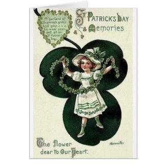 Cartão do dia de St Patrick da festão do trevo do