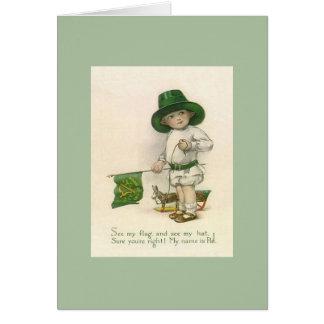 Cartão do dia de St Patrick da pancadinha de