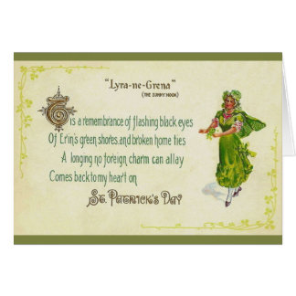 Cartão do dia de St Patrick do irlandês do vintage