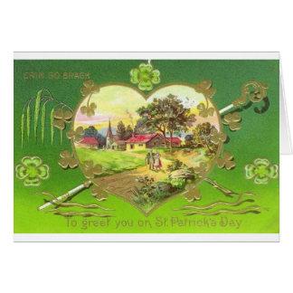 Cartão do dia de St Patrick do Victorian
