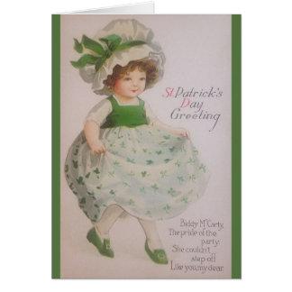 Cartão do dia de St Patrick do vintage
