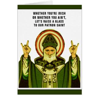 cartão do dia de St Patrick engraçado