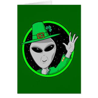 Cartão do dia de St Patrick estrangeiro do