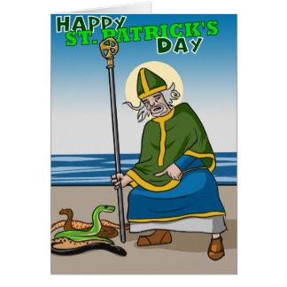Cartão do dia de St Patrick feliz, ponto em