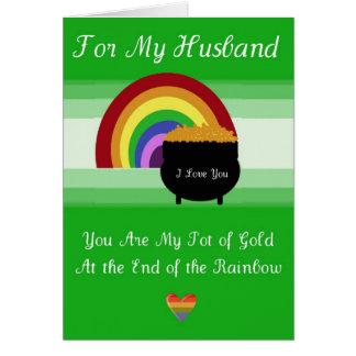 Cartão do dia de St Patrick - marido